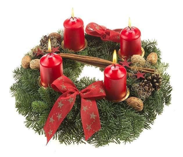 adventskranz rot weihnachts city. Black Bedroom Furniture Sets. Home Design Ideas